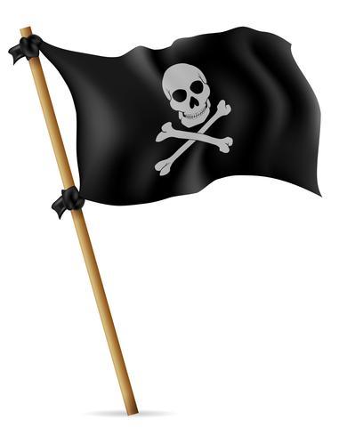 illustration vectorielle de drapeau pirate vecteur