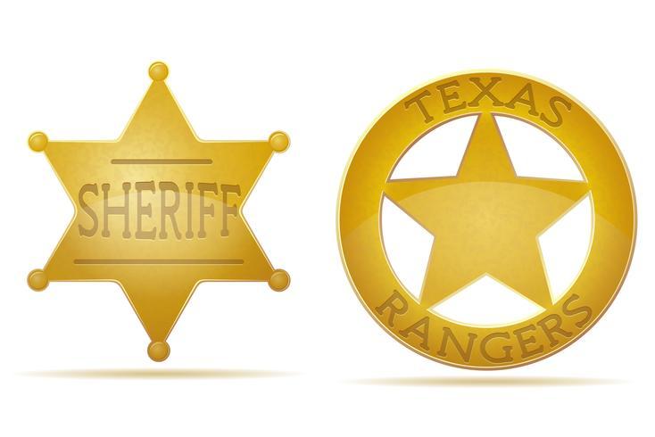 illustration vectorielle de star shérif et ranger vecteur