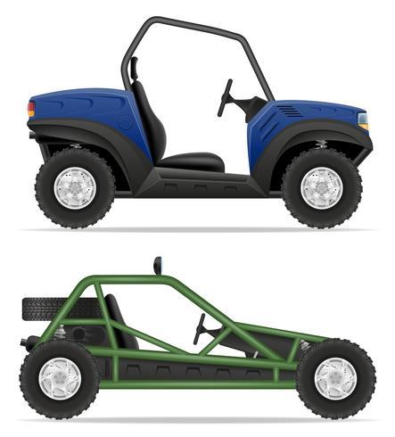 VTT voiture buggy hors routes vector illustration