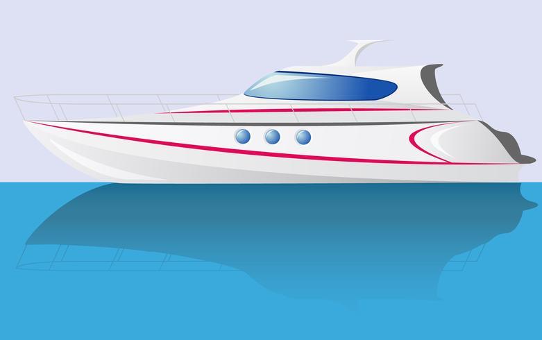 yacht de vitesse blanc vecteur