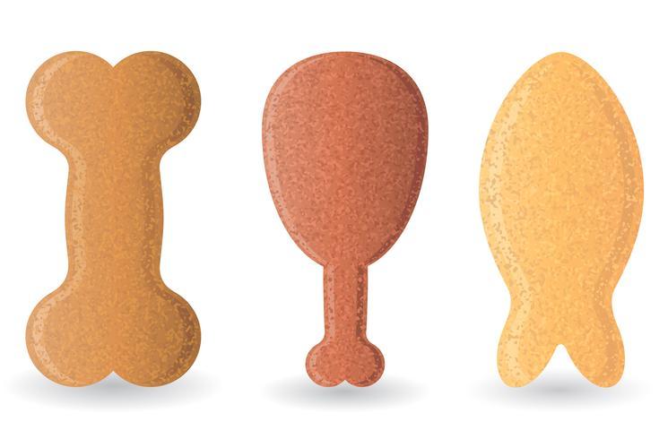 nourriture sèche pour chiens vector illustration