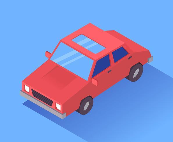 Transport isométrique Clip Art Set vecteur