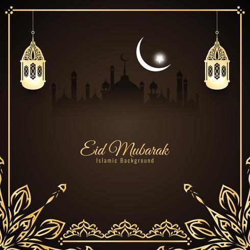 Abstrait Eid Mubarak design de fond islamique vecteur