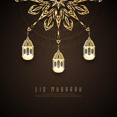 Abstrait Eid Mubarak design élégant vecteur