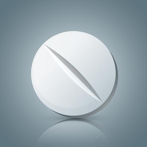 Comprimé de comprimé, icône de la pharmacologie. vecteur