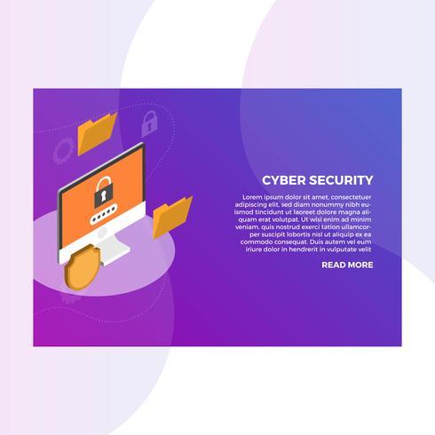 Cyber Security Server vecteur