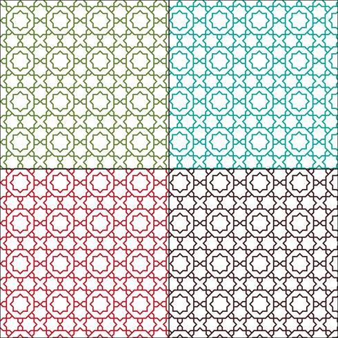 modèles de tuile sans couture orné contour marocain vecteur