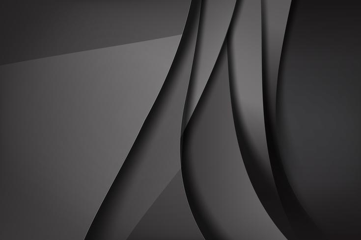 Abstrait fond noir et noir chevauche 007 vecteur