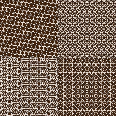 motifs marocains marron et blancs vecteur
