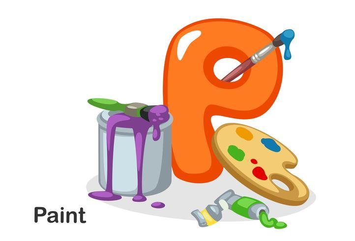 P pour la peinture vecteur