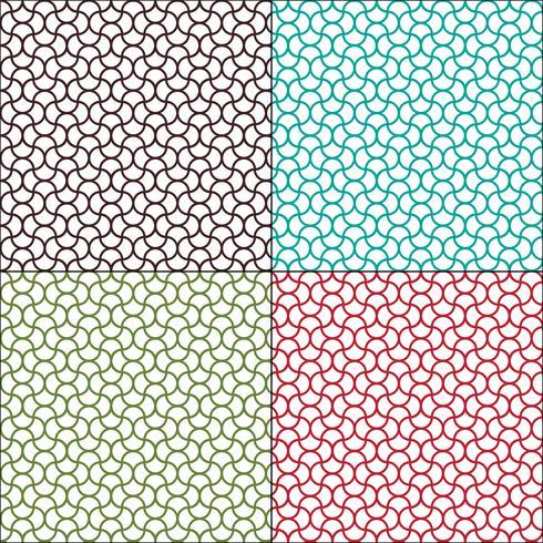 motifs géométriques ondulés marocains sans soudure vecteur