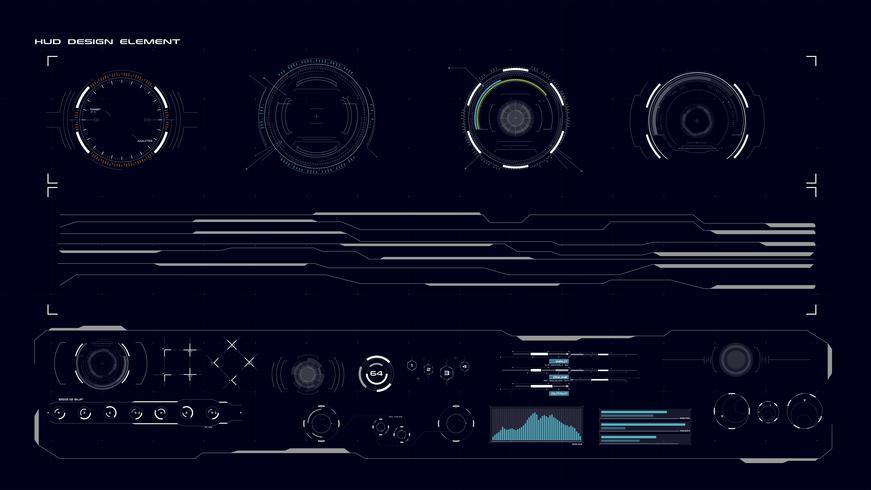 Elément de collection d'interface graphique HUD vecteur