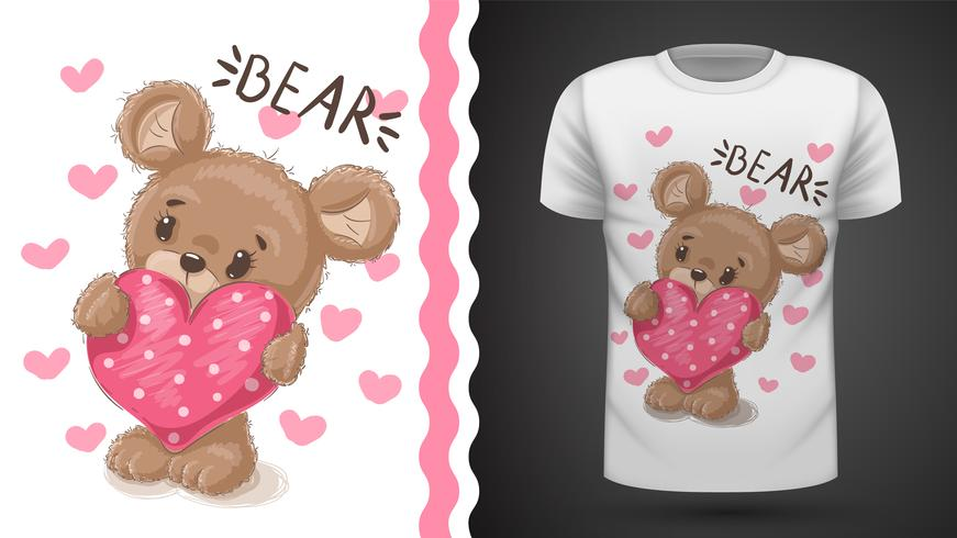 Cute pear - idée de t-shirt imprimé vecteur