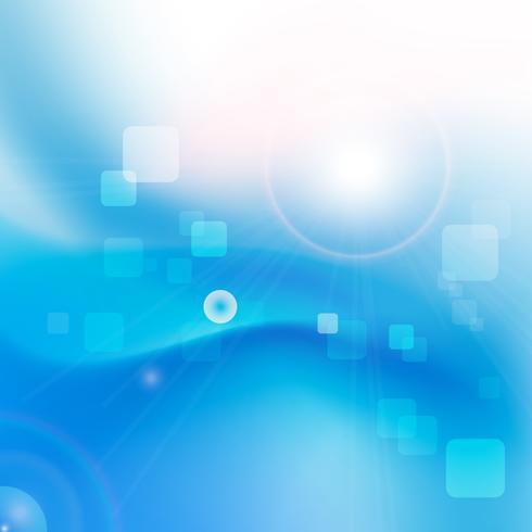 Abstrait courbe lisse bleu et mélange 001 vecteur