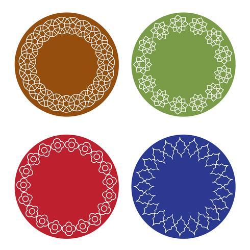 cadres marocains colorés vecteur