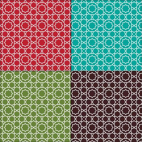 motifs de tuiles sans couture marocains ornés vecteur