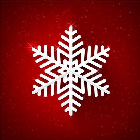 Flocon de neige scintillant sur fond rouge foncé 001 vecteur