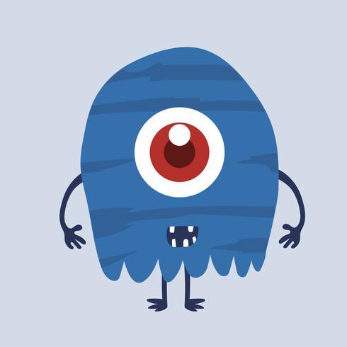 Personnage de dessin animé monstre mignon 007 vecteur