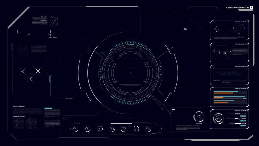 Interface graphique HUD 001 vecteur