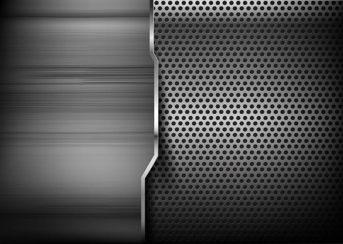 Abstrait fond en métal poli 006 vecteur