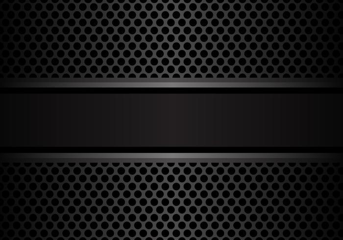 Bannière gris foncé sur cercle maille conception illustration vectorielle de fond moderne de luxe. vecteur