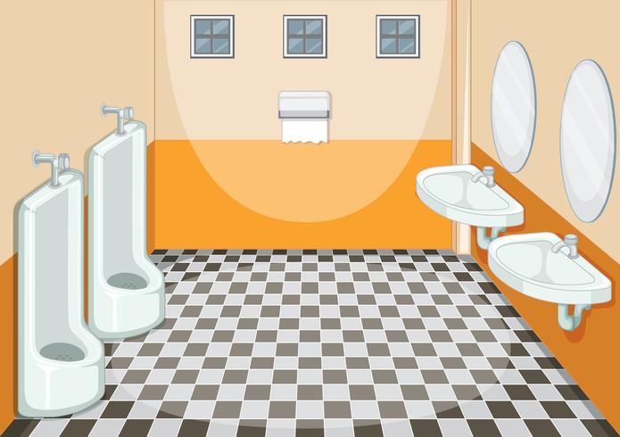 Design d'intérieur de toilette masculine vecteur