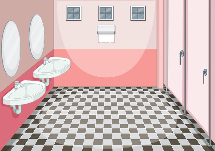 Design d'intérieur de toilette féminine vecteur