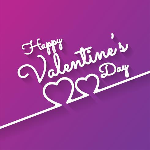 Carte de voeux romantique Happy Valentines Day vecteur