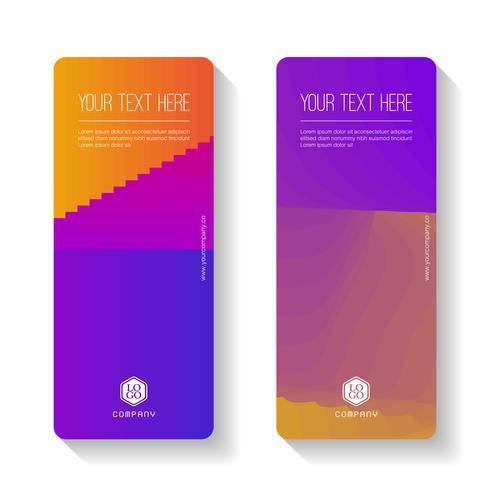 Modèle de bannière d'affaires Gradient coloré abstrait, jeu de cartes bannière verticale. vecteur