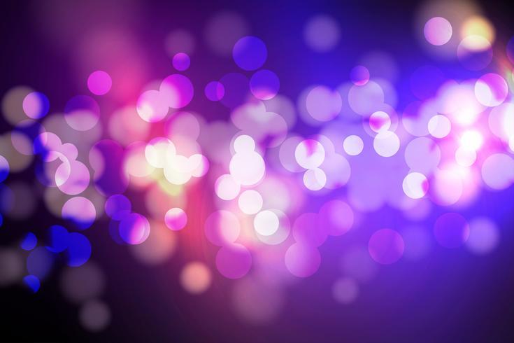 Cercle abstrait floue, lumières Bokeh et fond de paillettes vecteur