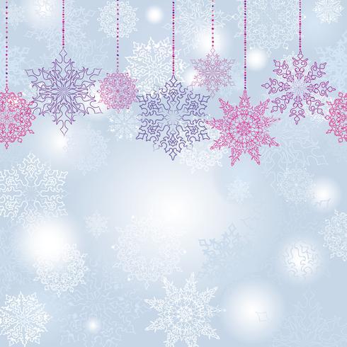 Neige flou fond transparente Noël hiver vacances neige fond vecteur