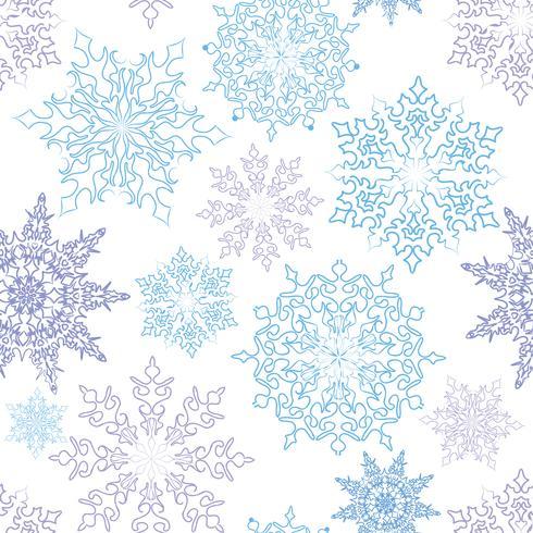 Modèle sans couture de neige fond hiver vacances Noël vecteur
