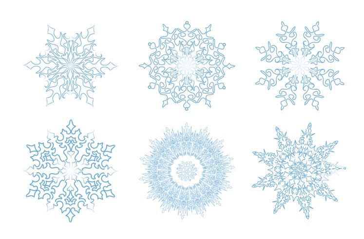 Sow ison set. Signe de dentelle vacances hiver flocon de neige. Décor de carte de voeux vecteur