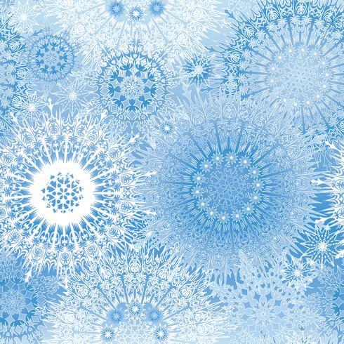 Motif de neige fond de flocons de neige Noël hiver vacances vecteur