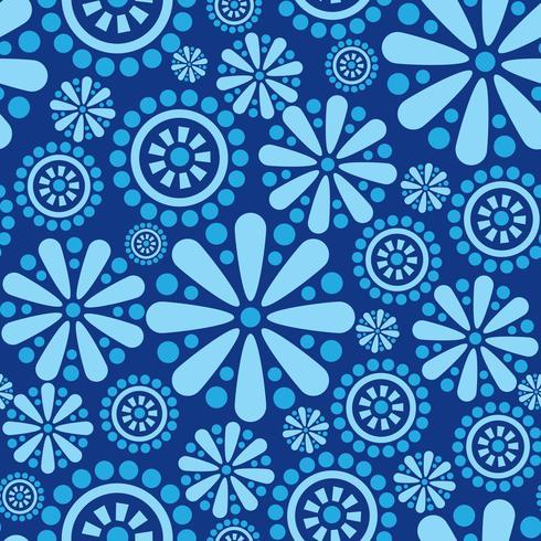 Motif géométrique floral abstrait ornement sans soudure fleur cercle vecteur