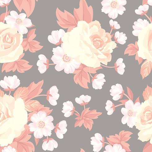 Floral pattern sans soudure. Fond de fleurs. Texture de jardin vecteur