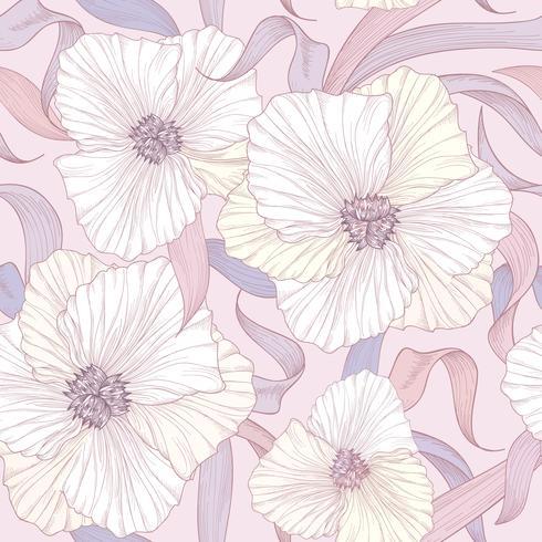Floral pattern sans soudure. Fond de fleurs. Jardin de printemps s'épanouir vecteur