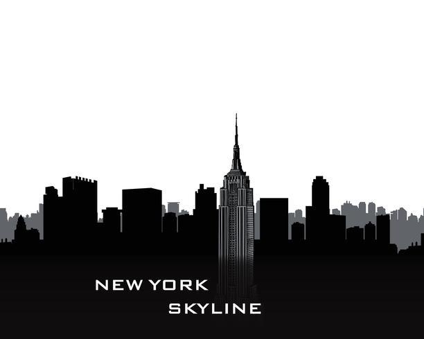 Paysage urbain de NYC. Horizon de la ville urbaine. Voyage USA fond vecteur