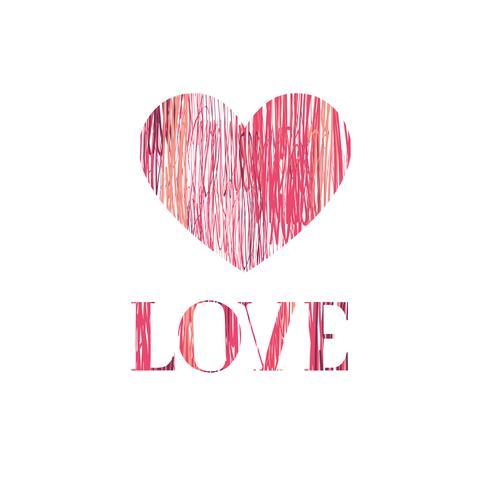 Carte de voeux Happy Valentines Day. Fond de coeur d'amour vecteur