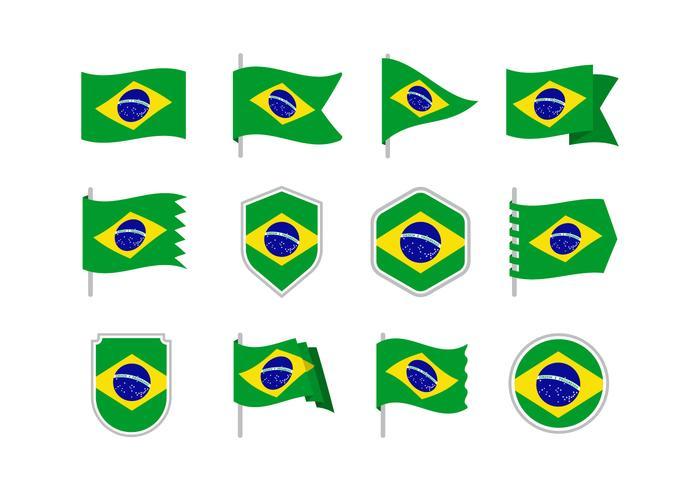Drapeaux du Brésil vecteur
