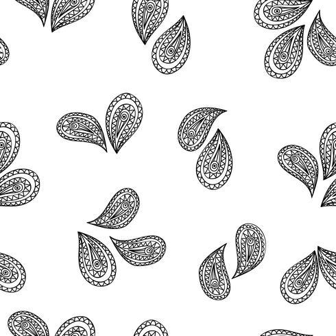 Motif géométrique abstrait Origine ethnique orientale feuille florale. vecteur