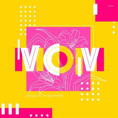 Maman typographie pop style vecteur