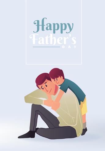 Heureuse conception de vecteur de fête des pères