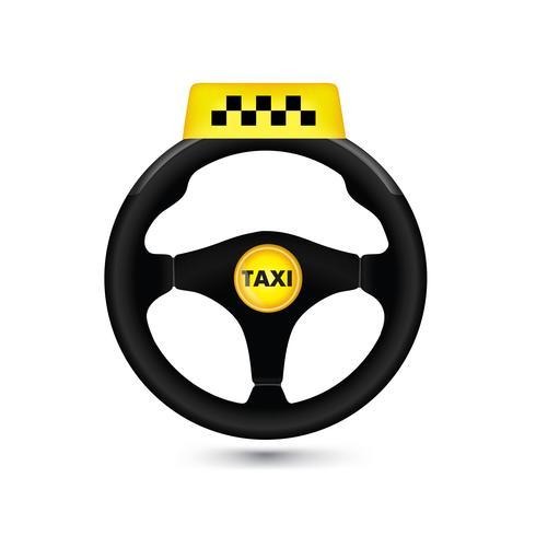 Signe de la voiture de taxi. Icône de voiture wheell. Vecteur