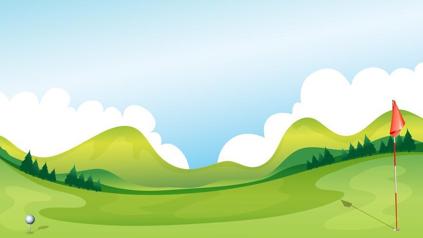 Terrain de golf vecteur