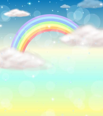 Un arc-en-ciel dans le ciel vecteur