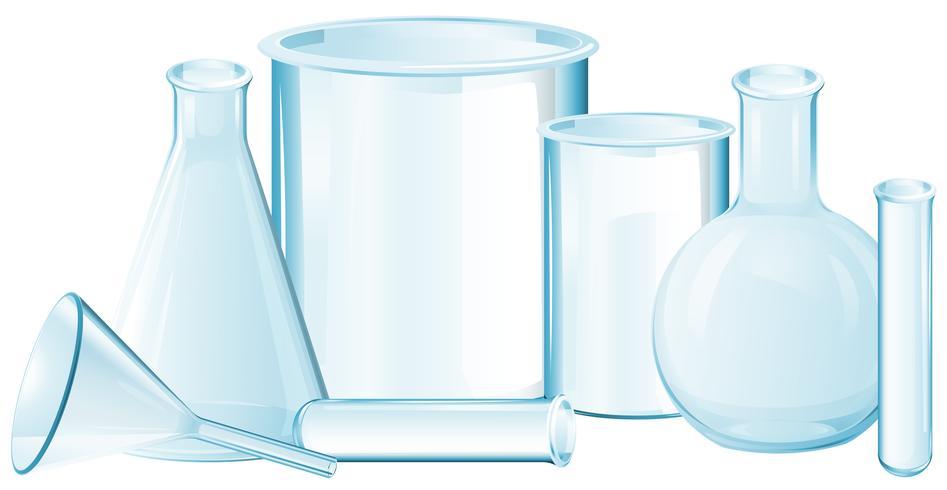Différents types de béchers en verre vecteur