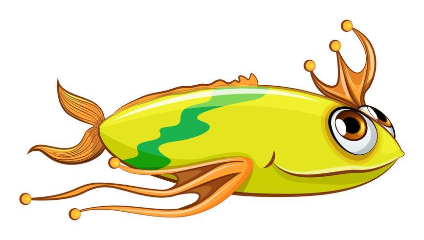 Un gros poisson coloré vecteur
