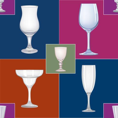 Modèle sans couture de verre à vin. Boire du fond de vin. Décor de fête vinaire vecteur