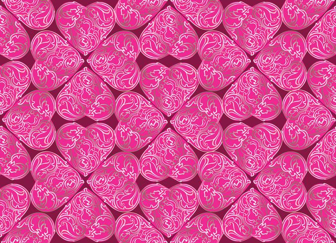 Amour coeur doodle modèle sans couture Valentine jour de vacances vecteur